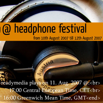 Live beim Headphone Festival